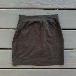 [ SOLD ] Moda International Grey Mini Skirt